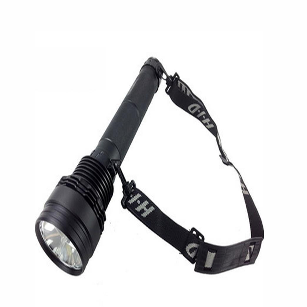 MEIYOWiederaufladbare HID Xenon Taschenlampe, Selbstverteidigung und starkes Licht Legierung Langstrecken Patrouille Außenbeleuchtung Lichter