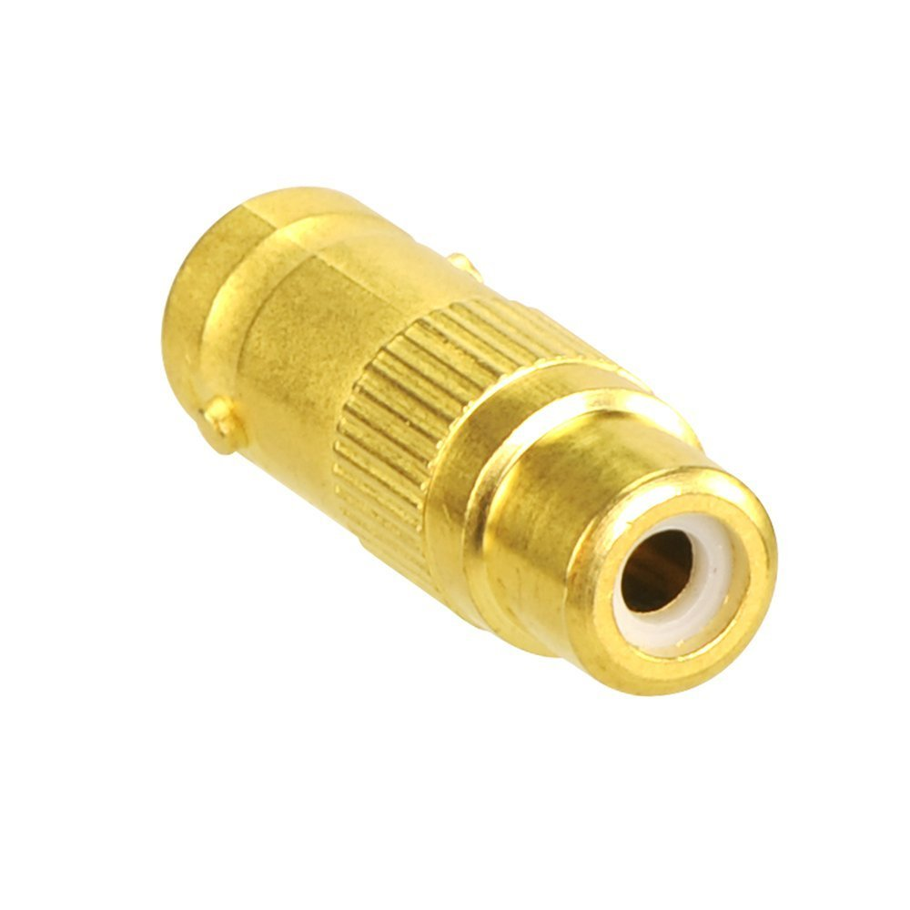 VCE 5-Pack Gold Plated BNC Female to BNC Female CCTV Security Camera Adapter Straight Connector