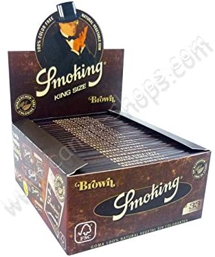 Caja de papel Smoking Brown slim - x3: Amazon.es: Hogar