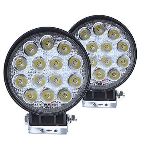 (WGL LED Work Light 2Pcs 42W Round High Power Epistar LEDs Off-Road Driving Light Fog lamp Flood Led Lights for Boat SUV ATV 4WD)