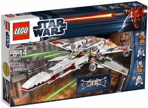 LEGO-LEGO-Star-Wars-X-wing-Fighter-TM-Red-Squadron-machine-9493