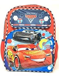 "Disney Pixar Cars 3 Boys 16"" School Backpack -LMQ Top Speed Lightning Mcqueen"