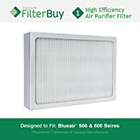 FilterBuy Particle Filter Designed by FilterBuy to fit Blueair 500 & 600 Series Air Purifiers.