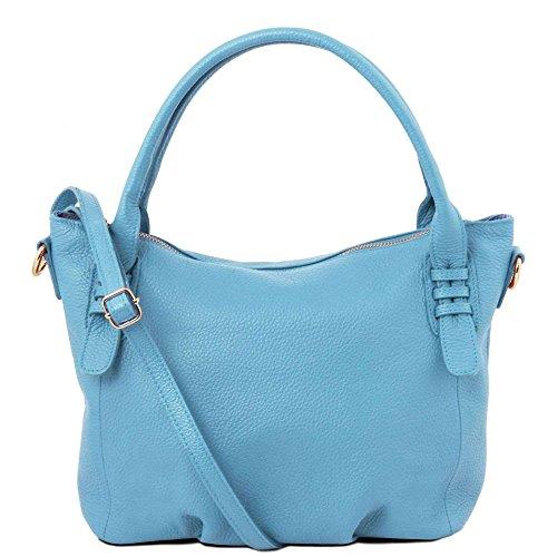 TL141705 Sacs Bag Tuscany main Leather cuir Bleu à en TL céleste v0C5qPrCwg