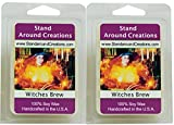100% All Natural Soy Wax Melt Tarts - Set of 2 - Witches Brew- A celebration of patchouli, cinnamon and cedar wood. 3-oz. ea. - Naturally Strong Scented
