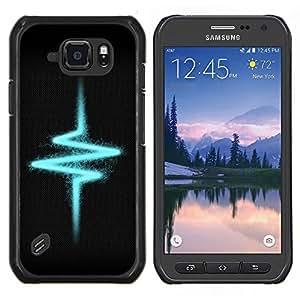 Caucho caso de Shell duro de la cubierta de accesorios de protección BY RAYDREAMMM - Samsung Galaxy S6Active Active G890A - Pulso Heartbeat Eléctrico Vibe