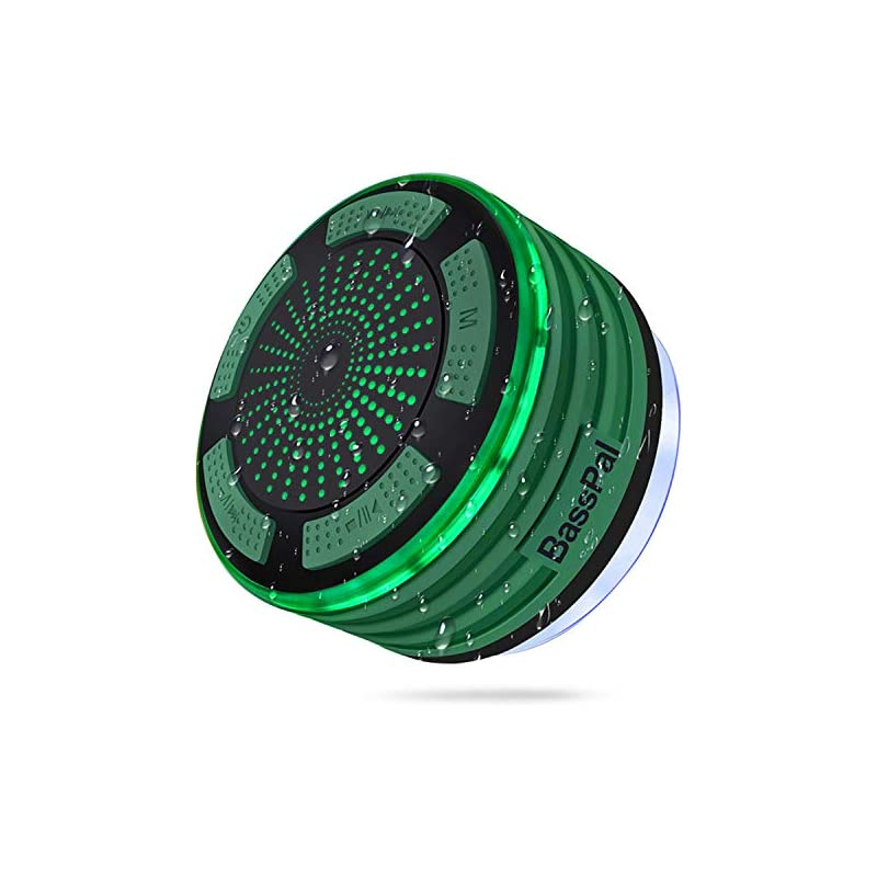 BassPal Shower Speaker, IPX7 Waterproof