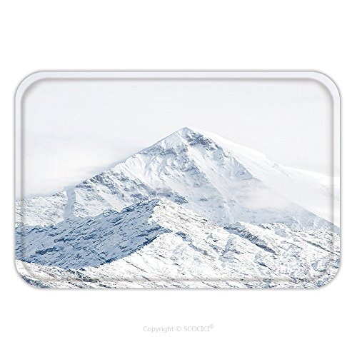 Mountain Province Costume - Flannel Microfiber Non-slip Rubber Backing Soft Absorbent Doormat Mat Rug Carpet Mountain Peak With Snow In Mist Yading National Level Reserve Daocheng Sichuan Province China 382600183 for Indoor/Outd