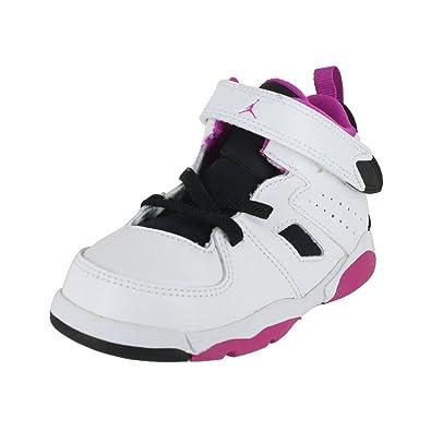 Jordan Toddler Flight Club 91 (TD) White Black Fuchsia Blast Size 7 e2eb26a45