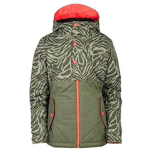686 Girls Scarlet Insulated Jacket, Tiger Army Print, Small