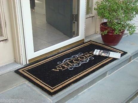 Attirant WELCOME MAT Heavy Duty Large Coir Doormat. Front Porch Double Door Outdoor  Floor