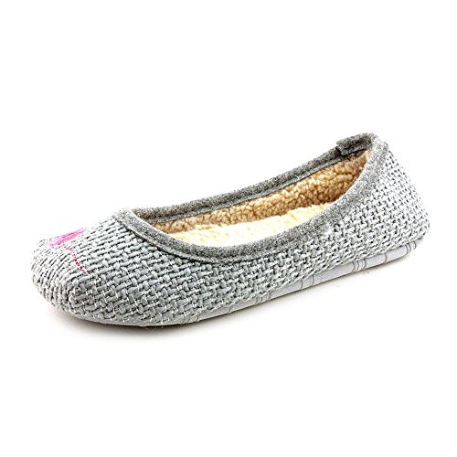 American Rag Animal Womens Size 8 Gray Fabric Slipper Shoes NY9MXQ4Oia