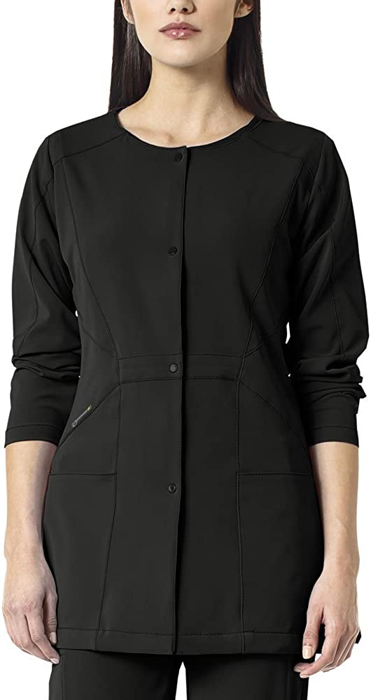 WonderWink Women's Hp Plus Size Snap Front Scrub Jacket