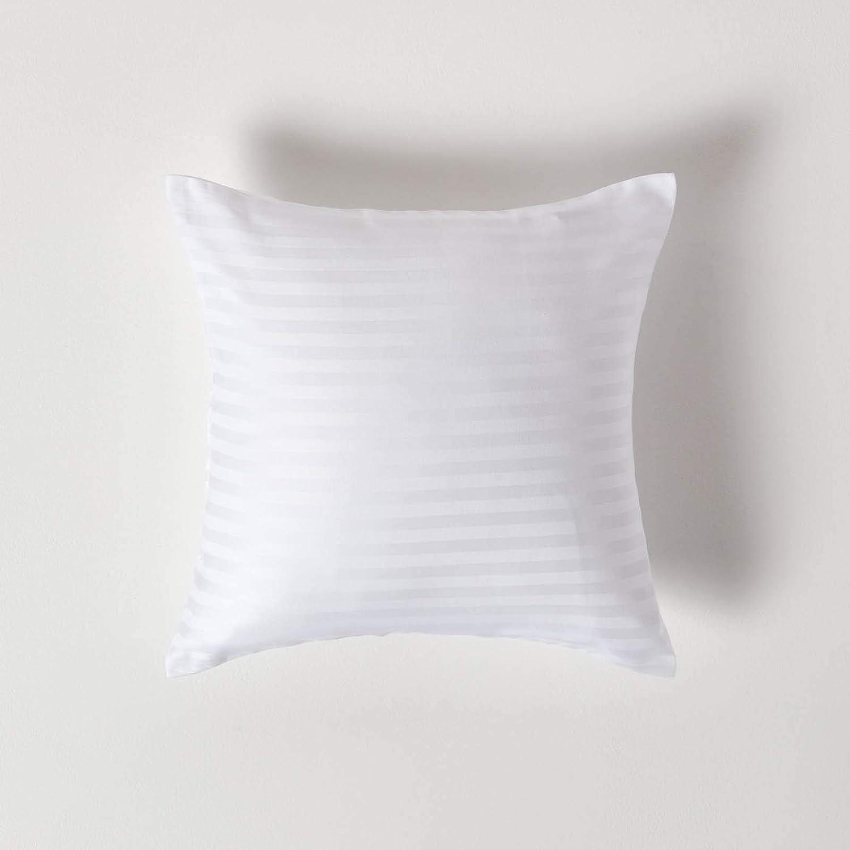 2 x Kissenhüllen Dicke Jersey Baumwolle Kissenbezüge Weiß 40x40 40x80 80x80 cm