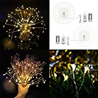 Longay Firework Lights LED String Lights 8 Modes Dimmable Fairy Lights with Remote Cont
