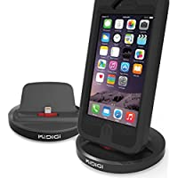 KiDiGi RUGGED CASE COMPATIBLE DOCK CHARGER SYNC CRADLE DOCKING STATION FOR APPLE iPHONE 6 PLUS, iPHONE 6, iPHONE 5/5s/5c, iPOD TOUCH 5 5th GEN