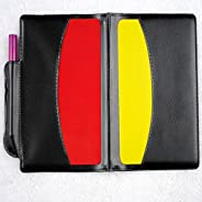 Gracefulvara Soccer Referee Penalty Pencil Wallet Pad Yellow Red Card and Sports Notebook