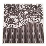 Shoresu Plastic Embossing Folder Stencils Template Molds DIY Scrapbooking Paper Photo Album Card Decoration - Happy Birthday