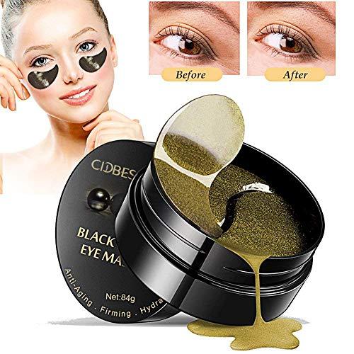 Under Eye Mask, Collagen Eye Mask, Eye Gel Pads, Black Pearl Eye Patch, Anti-Aging Hyaluronic Acid...