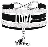 Best Cousins Charms - Legemeton Multilayer Braided Wrap Infinity Love Black Bracelets Review