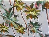 Tropical Hawaiian 100% Cotton Barkcloth SHOWER CURTAIN