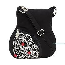Pick Pocket Girls Sling Bag Black Slsideemb302