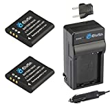 EforTek Li-50B Replacement Battery (2-Pack) and Charger Kit for Olympus LI-50B,Pentax D-li92 and Olympus Stylus 1010, 1020, 1030, 9000, 9010, SP-720UZ iHS, SP-800UZ, SP-810UZ, SZ-10, SZ-11, SZ-12, SZ-15, SZ-16 iHS, SZ-20, SZ-30MR, SZ-31MR iHS, Tough 6000, 6020, 8000, 8010, TG-610, TG-620 iHS, TG-630 iHS, TG-805, TG-810, TG-820 iHS, TG-830 iHS, TG-835, TG-850, TG-860,VG-190, VH-410, VH-515, VH-520,