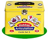 Set of 7 Webber Articulation Card Decks with Animal Artic Pairs (Combo Set 3) - Super Duper Educational Learning Toy for Kids
