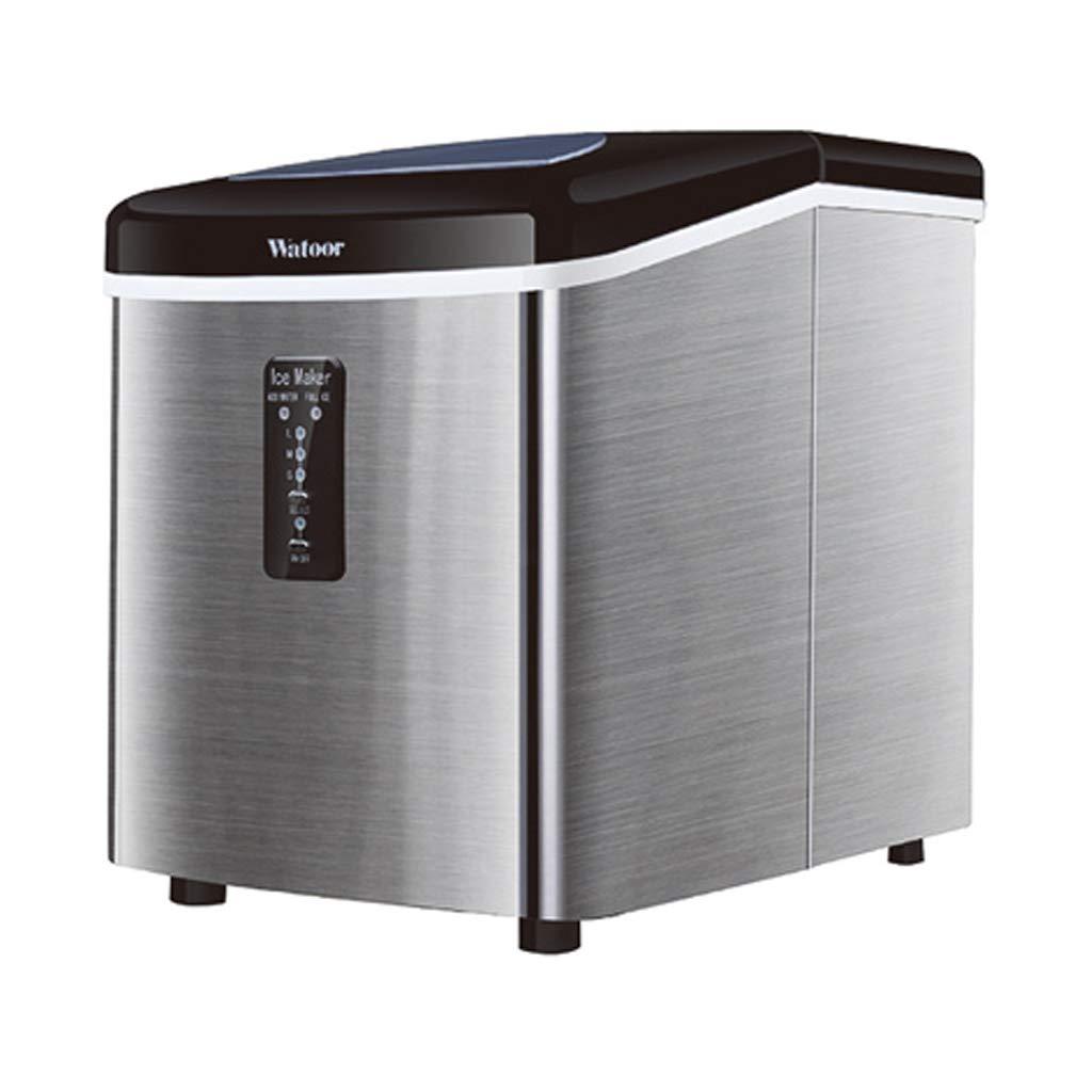 WHJ@ Lai Ice Machine 18kg Mini Small Household Tea Shop Desktop Manual Commercial Bar Ice Cube Ice Machine Silver