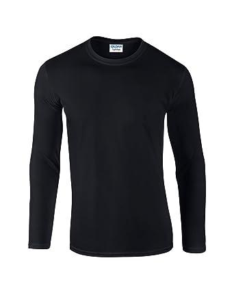 5cd9c9d54ac Gildan Mens Plain Premium Feel Soft Style T-Shirt Adult Heavy Cotton Long  Sleeve T