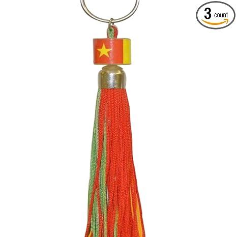 Amazon.com: Senegal Mini pequeña bandera Anillo Tassel – 3 ...