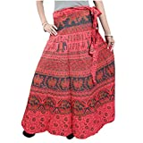 Bohemian Wrap Around Skirt Printed Cotton Gypsy Hippie Boho Sarong Dress
