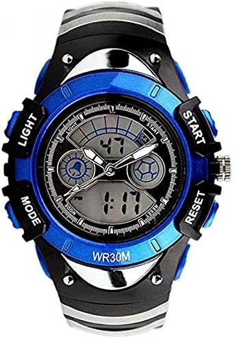ALPS Kids Watches LED Digital Boys Girls Waterproof Watches (Blue)