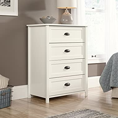 Sauder Furniture County Line Soft White 4-Drawer Dresser Chest | 416976