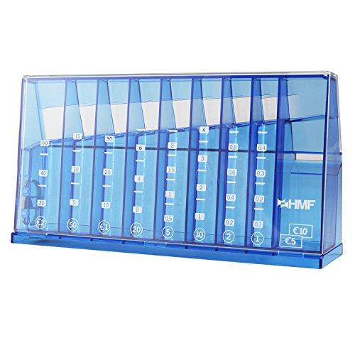 HMF 4710-05 Münzsortierer Spardose 24,0 x 5,0 x 12,0 cm , blau