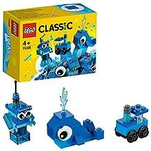 LEGO Classic - Ladrillos Creativos Azules, Juguete de Construcción con Ladrillos de Colores para Desarrollar la Imaginación, Recomendado a Partir de 4 Años (11006) , color/modelo surtido