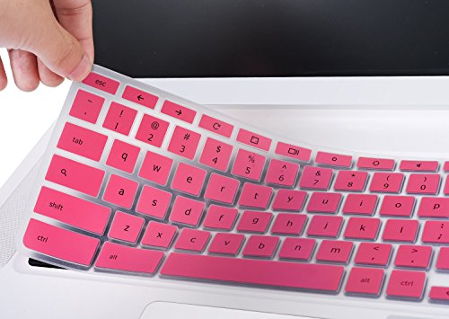 Acer Chromebook 15 Keyboard Protector, CaseBuy Anti-Dust Keyboard Skin Cover for Acer Chromebook 15 CB3-531 CB5-571 C910 Chromebook US Layout, Pink