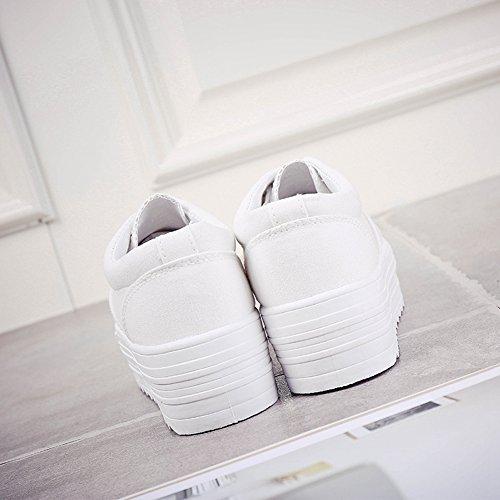Cybling Vrouwen Outdoor Walking Trainers Schoenen Casual Mode-platform Dikke Sneakers Wit