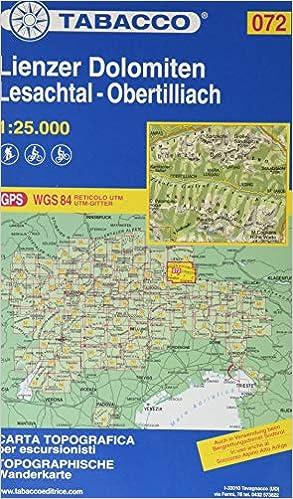 Tabacco Wandern 1 25 000 Lienzer Dolomiten Lesachtal