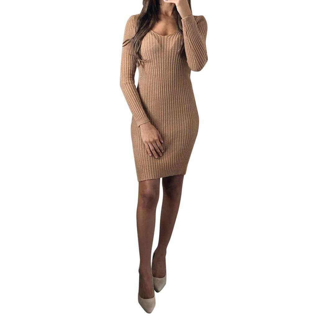Keliay Bargain Women Autumn Casual Long Sleeve Dress Loose Party Dress Sundress