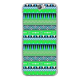 Carcasa rígida para HTC One A9 con impresión, diseño azteca, color azul y verde