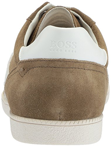 Hugo Boss Men's Rumba Tennis Suede Sneaker, Multi-Color Medium Green