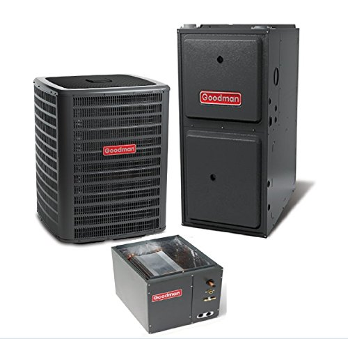 2.5 Ton Goodman 14 SEER R410A 96% AFUE 60,000 BTU Vertical Gas Furnace Split - Unit Furnace Ac