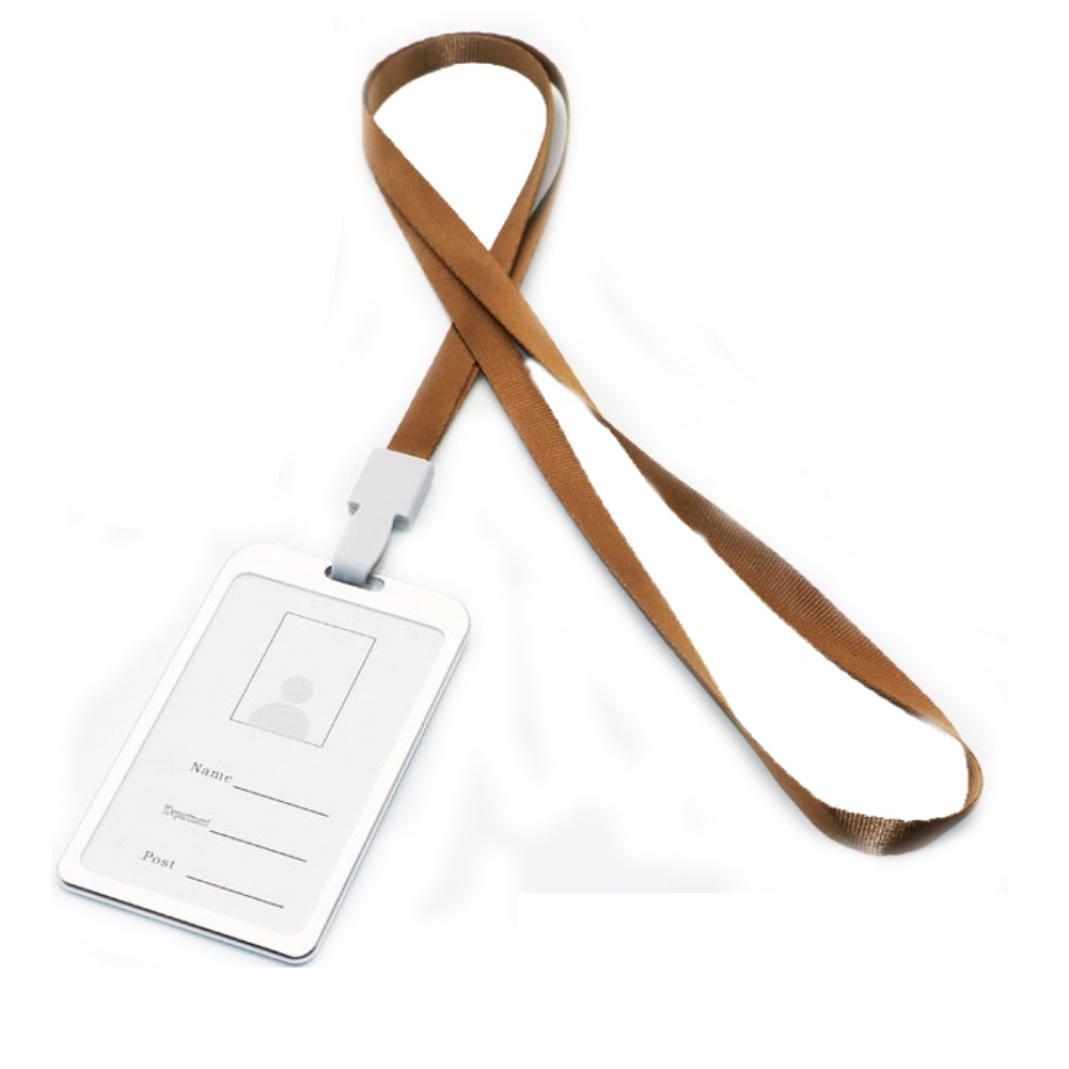 steellwingsf Vertikale Badge Business Arbeit Namen Karten ID Riemen Langlebig Lanyard Halter Einheitsgr/ö/ße Braun Gold