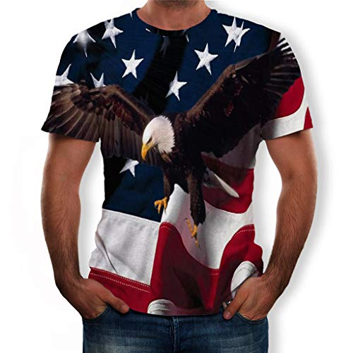 XQXCL USA Military American Eagle Flag Patriotic Men