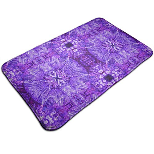 CRSJBB219 Glows in The Dark - Purple Doormat Outdoor-Doormat Indoor-Non-Slip Waterproof Doormat Rug (19.5x31.5)-Back and Front Door Mat-Easy Clean Entrance Door Mat-Inside Outside Doormat