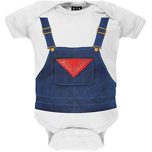 [Halloween Farmer Overalls Costume Baby One Piece - 12-18 months] (Halloween Costumes For 16 Month Old Girl)