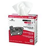 GP PRO Brawny Professional 20075 D300 Disposable Cleaning Towel, Tall Box, White