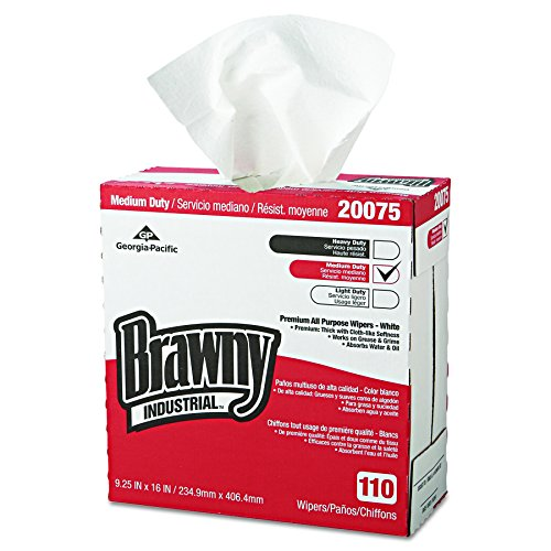 GP PRO Brawny Professional 20075 D300 Disposable Cleaning Towel, Tall Box, (Brawny Industrial Drc Wipers)