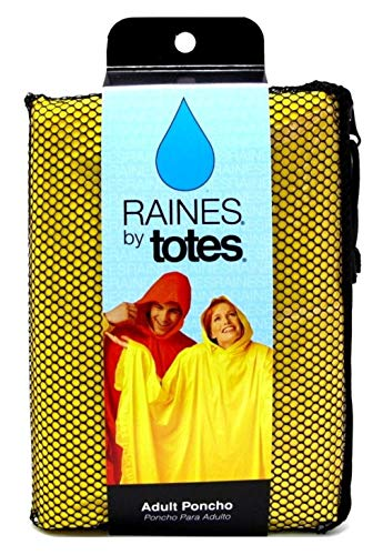 Raines Rain Poncho Adult Size Assorted Colors (3 Pack)